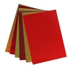 Weihnachten Rot/Gold Folienset