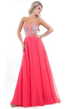 2015 Sweetheart Beaded Bodice  A-Line/Princess Prom Dresses Chiffon USD 139.99 EPPGY1YJZE - ElleProm.com