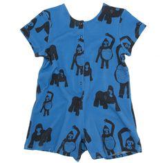 Ολόσωμη Οργανική φόρμα Koolabah - Gorilla  Παιδικα ρουχα απο οργανικο βαμβακι