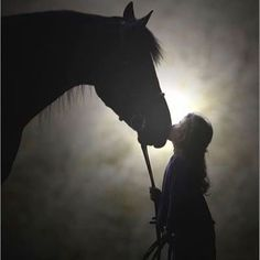 Kiss your horse goodnight. Photo from Pinterest Just For You Prophetic Art. #goodnight