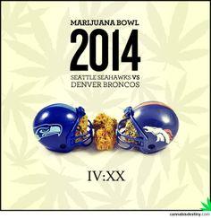 Looks like the Marijuana Bowl is set to go!  #denver #seattle #marijuana #cannabis #weed #superbowl2014 #nfl