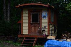 Gypsy Caravan Gypsy Caravan, Fairy, Cabin, House Styles, Wood, Home Decor, Homemade Home Decor, Woodwind Instrument, Timber Wood