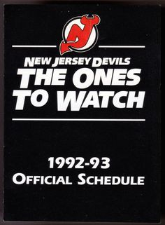 1992-93 NEW JERSEY DEVILS BUDWEISER BEER HOCKEY POCKET SCHEDULE FREE SHIPPING #Schedule