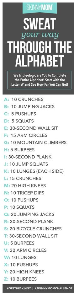 Sweat Your Way Through Alphabet To Hourglass Body