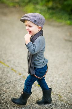 toddler scarf and suspenders