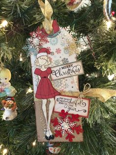 """Julie Nutting Doll Stamp - Merry Nice 