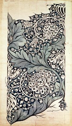 William Morris 'avon' 1886 'Avon' textile design by William Morris, produced by Morris & Co in This looks like a contemporary Zentangle! Morris was the best! William Morris Patterns, William Morris Art, Art Nouveau, Textile Patterns, Print Patterns, Fabric Design, Pattern Design, Art Chinois, Illustration Art