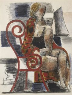 Marcel Gromaire - SANS TITRE, 1929, Mixed media on...