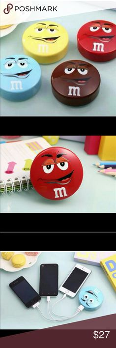 M&M Red POWER BANK for smartphones 3D cute cartoon M&M power bank features 8000mAh for iPhone 6 5 4s Samsung android phones portable charger. See pic #4 for compatible devices. POWER Accessories Phone Cases