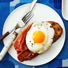 Proscuitto and Egg Toast