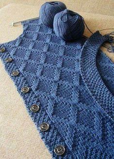 Baby Knitting Patterns Cardigan I present to you the si Baby Knitting Patterns, Knitting Stitches, Knitting Designs, Free Knitting, Crochet Patterns, Knitting Bags, Knitting Machine, Stitch Patterns, Gilet Crochet