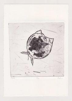 Microorganism 2  #drypoint #etching #copperplate #printmaking