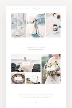 LVY II Flothemes - Wedding Photography Website Inspiration Website built by Jeanne Marie Photography with Lovely Theme. Custom Web Design, Custom Website Design, Wedding Website Design, Learn Web Design, Planner Brands, Website Design Inspiration, Layout, Page Design, Blog Design