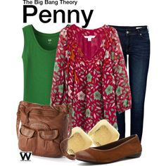 Inspired by Kaley Cuoco-Sweeting as Penny on The Big Bang Theory.