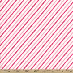 Cozy Cotton Diagonal Stripe Flannel Fabric - Pink by Beverlys.com