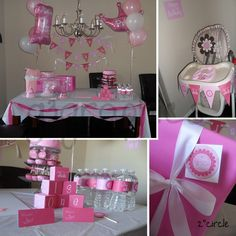 Printable party package Little Pink Princess set