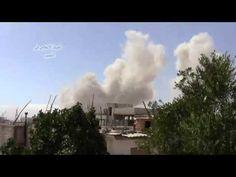 القصير  قصف الطيران الحربي على المدينة 4 6 2013