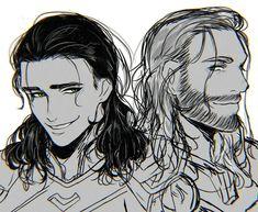 Thor & Loki by L6m6E