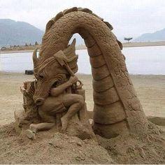 eso le pasa por esculpir weas en la playa!!!!!8¬Jajjaa