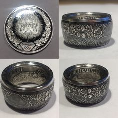 Coin Ring, Old Coins, Diamond Are A Girls Best Friend, Sparkles, Sapphire, Crafting, Jewelry Making, Bling, Fancy
