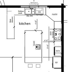 Kitchen Island Floor Plan u-shaped+kitchen+floor+plans | corridor kitchen island kitchen l