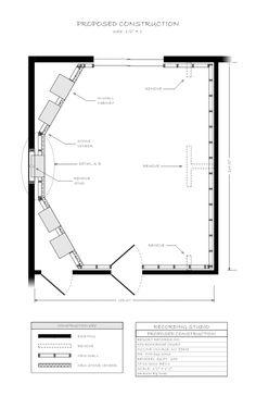 Recording Studio Construction Plans #2 - proposed construction