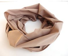 spring celebration ,soft cotton scarf ,infinity scarf / scarves ,eternity scarf ,beige brown light color on Etsy, $12.90
