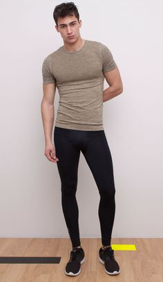 Fitted tee and jogging bottoms - ready to run!