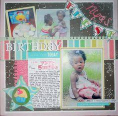 Nyas 1st Birthday full page view - Scrapbook.com
