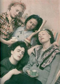 Four Women Asleep by Roland Penrose, 1954 (Left to right: Lee Miller, Leonora Carrington, Ady Fidelin, and Nusch Eluard)