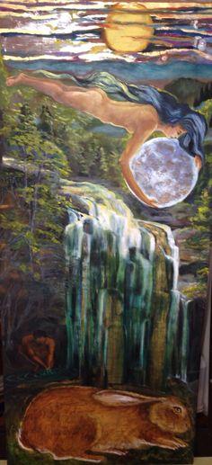 Legend of La Llorona  Oil on silver and gold gilt panel