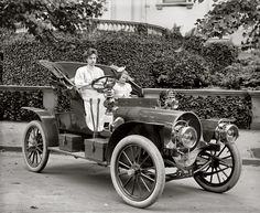 "Washington, D.C., circa 1908. ""Mrs. F.S. Bliven in auto."""