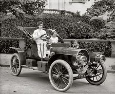 """Washington, D.C., circa 1908. """"Mrs. F.S. Bliven in auto."""""""