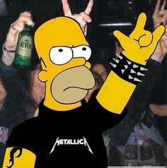 hahaha! Love Homer and Metallica!