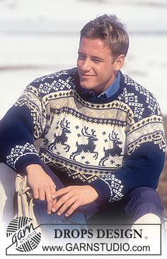 DROPS 32-10 - DROPS Sweater and hat in Karisma Superwash with reindeer - Free pattern by DROPS Design