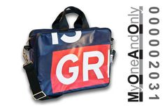 MyOneAndOnly DELOS 2031 Laptop bag made from reused banners. Each bag is unique and has a number for it. Greek Fashion, Eco Friendly Bags, New Face, Laptop Bag, Bag Making, Gym Bag, Greece, Glamour, Postcards