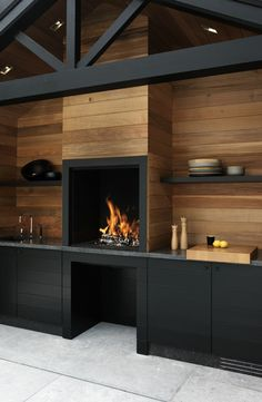 Outdoor Kitchen with Fireplace . Outdoor Kitchen with Fireplace . Küchen Design, Design Case, House Design, Design Ideas, Interior Design, Interior Modern, Design Projects, Garage Design, Design Inspiration