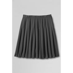 Lands' End Solid Pleated Skirt (51 CAD) ❤ liked on Polyvore featuring skirts, lands' end, pleated skirt, draped skirt, below knee skirts and lands end skirts