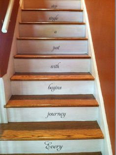 Every journey begins with STAIRS stairway Vinyl Decal Vinyl Decal Home Decor Door Wall Lettering Words Quotes on Etsy, $18.95