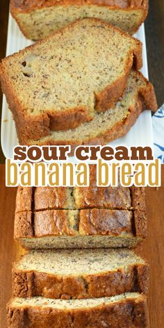 Add a little texture and tang to your breakfast with this Sour Cream Banana Bread. The addition of sour cream in this recipe is pure genius for the most delicious, moist slice of banana bread! Sour Cream Banana Bread, Best Banana Bread, Starbucks Banana Bread, Banana Bread Muffins, Bread Cake, Dessert Bread, Honey Dessert, Best Nutrition Food, Healthy Food