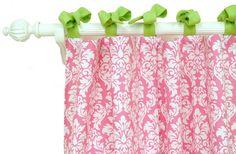 pink damask curtains - Bing Images