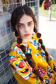 Yes, my creepy clown top and Rainbow Brite pigtails are making me extremely happy. Why do you ask? Hair Inspo, Hair Inspiration, Mein Style, Hair Reference, Foto Art, Tween Fashion, Fashion 101, Grunge Hair, Look At You