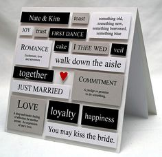 Wedding Words Collage Card in White by handmade by amy, via Flickr