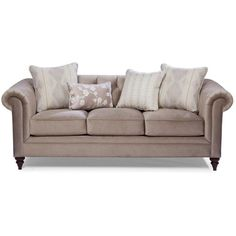 """Melody 88"""" Taupe Upholstered Sofa"""