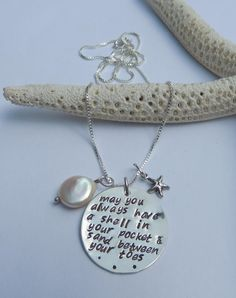 Hand Stamped Pendant Necklace May you always have by CataniJewels, $68.00. I love this!
