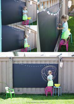 Backyard Chalkboard {this lemon yogurt}