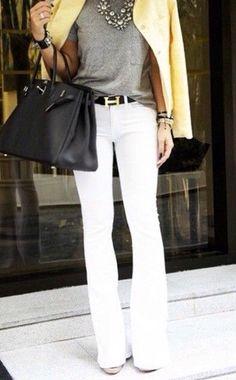 14 melhores imagens de Calca branca | Calça branca, Moda e Looks