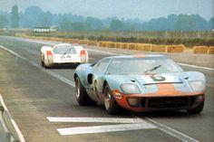 24 heures du Mans 1969 - Ford GT40 MKI #6 - Jacky Ickx / Jackie Oliver - winner | Porsche 908 #64- Pilotes : Gérard Larrousse / Hans Herrmann - 2ème