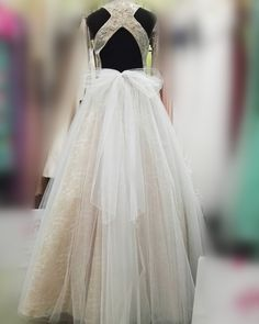 White Long Prom Dress, 2017 White Long Prom Dress, Long Open Back Prom Dress with Ribbon - Thumbnail 1