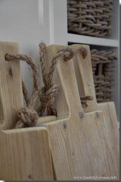 Landelijk Wonen stoere broodplanken / kaasplanken